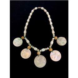 Jade Beaded 5 Zodiac Medallion Necklace