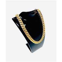 Mens 18K Gold Plated Cuban Link Necklace