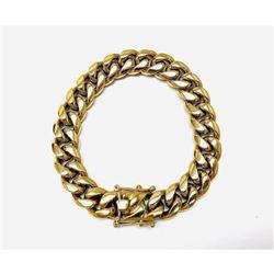 Mens Cuban Link 18K Gold Plated Bracelet
