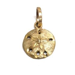Hand Crafted Gold Sand Dollar Pendant