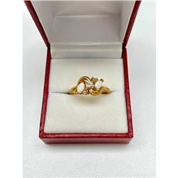 Ladies .12ct Marquise Cut White Opal set in 18K Gold Plated Ring