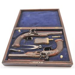 20FD-18 PAIR OF FLINTLOCK PISTOLS