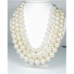 20CAI-1 TRIPLE STRAND OF SOUTH SEA PEARLS