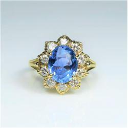 20CAI-2 SAPPHIRE & DIAMOND RING