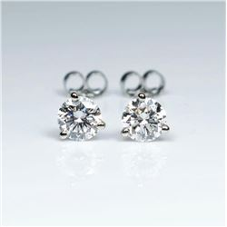 20CAI-6 'IDEAL' CUT DIAMOND STUD EARRINGS