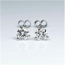 20CAI-6 'IDEAL' CUT DIAMOND STUD EARRINGS