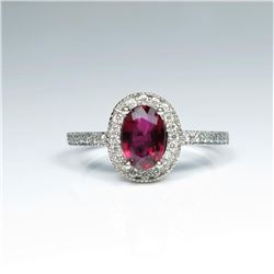 20CAI-7 RUBY & DIAMOND RING