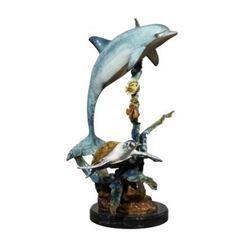 20GFL-14 DOLPHIN, TURTLE FISH STATUE
