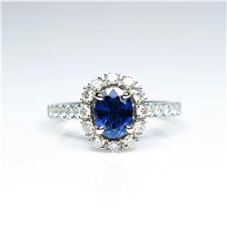 20CAI-8 BLUE SAPPHIRE & DIAMOND RING