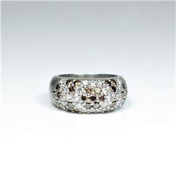 20CAI-18 WHITE & CHOCOLATE DIAMOND RING