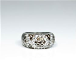 20CAI-18 WHITE & CHOCOLATE DIAMOND RING
