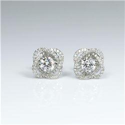 20CAI-27 ' IDEAL' CUT DIAMOND EARRINGS