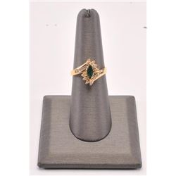 20RPS-40 MARQUEE CUT EMERALD RING