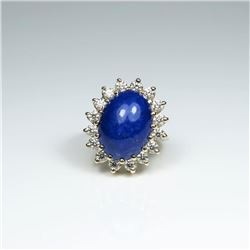 20CAI-37 LAPIS & DIAMOND RING