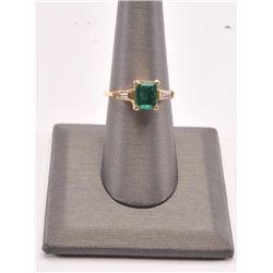 20RPS-9 EMERALD & DIAMOND RING
