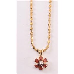 20RPS-29 YELLOW GOLD FLOWER PENDANT