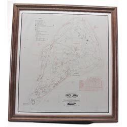 20EY-1 MAP OF IWO JIMA OCCUPATION