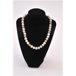 20RPS-42 MULTI COLOR JADE NECKLACE