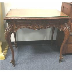 20MOK-4 CARVED FRENCH STYLE TABLE