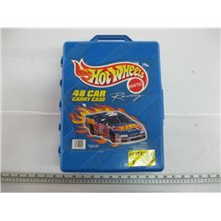 HOT WHEELS CASE WITH ASSORTED HOT WHEELS CARS (APPROX 48)