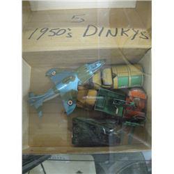 5 DINKY TOYS