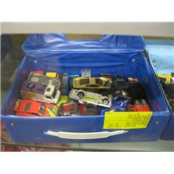 2 CAR CASES WITH ASSORTED HOT WHEELS CARS