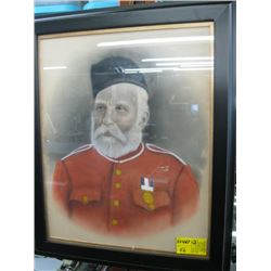 "FRAMED PAINTING OF ""THE BEARDED MILITARY MAN"""