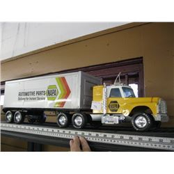 METAL/PLASTIC NAPPA SEMI & TRAILER BY NYLINT (MADE IN THE USA)