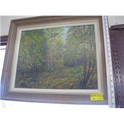 FRAMED OIL PAINTING BY LAD 70