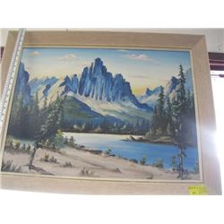"ORIGINAL OIL PAINTING OF ""THE MOUNTAINS"""