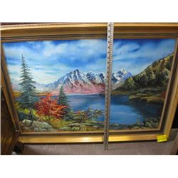 ORIGINAL BRIGHT PAINTING IN FRAME