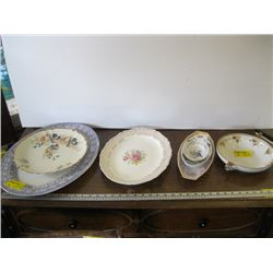 A LOT OF MISC CHINA, PLATES, PLATTERS ETC.