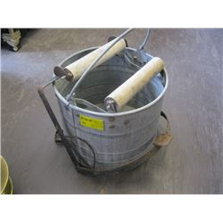 MOP BUCKET WITH WOODEN SQUEEGEE
