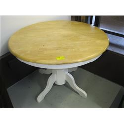 ROUND SINGLE PEDESTAL DINETTE TABLE
