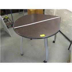 ROUND & SQUARE CORNERED ADJUSTABLE LEGGED TABLE