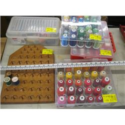 LARGE LOT OF ASSORTED THREAD
