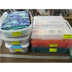 6 BOXES OF MISC THREAD & MATERIAL