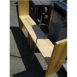 2 WOODEN BENCHES