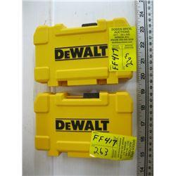 2 DEWALT DRILL & BIT SETS
