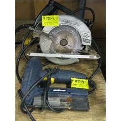 MASTERCRAFT ELECTRIC BRAD NAILER, B&D SAWCAT CIRCULAR SAW