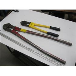 LARGE & SMALL PAIR OF BOLT CUTTERS