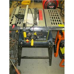 """MASTERCRAFT 10"""" TABLE SAW ON STAND"""