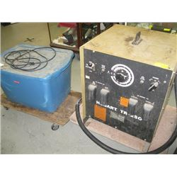 HOBART TR-250 HEAVY DUTY WELDER, BIN OF CABLE AND ROPE