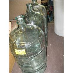 3 - 5 GALLON GLASS CARBOYS