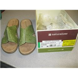 NEW PR OF NATURALIZER SHOES, SIZE 11, SLIP ON, GREEN