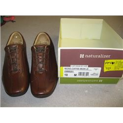 NEW PR OF NATURALIZER BROWN LEATHER SHOES SIZE 10