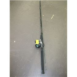 SHAKESPEARE UGLY STICK BIG WADDER ROD WITH A SHAKESPEARE REEL W/DEPTH COUNTER