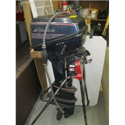 EVINRUDE 6 HP OUTBOARD MOTOR WITH HOSE BUT NO TANK