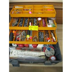 GREY FENWICK TACKLE BOX WITH CONTENTS