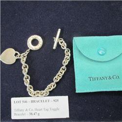 Bracelet - 925 - Tiffany & Co. Heart Tag Toggle Bracelet - 38.47 g